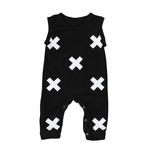 Kleinkind Baby Geometrisch Drucken Overall Kostüm_Hirolan (90cm,