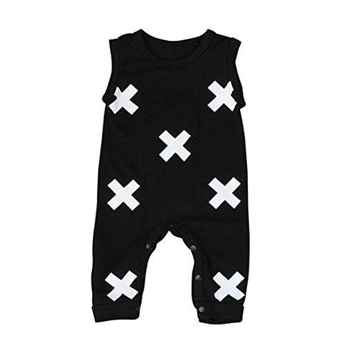 (Kleinkind Baby Geometrisch Drucken Overall Kostüm_Hirolan (100cm, Schwarz))