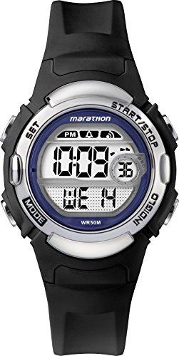 Timex TW5M14300 Unisex-Armbanduhr für Erwachsene mit Quarz-Uhrwerk, Digitalanzeige und Resin-Uhrenband.