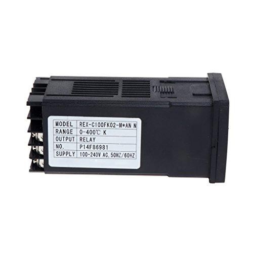 PID Digital Temperaturregler REX-C100(M) 0 bis 400 °C K Typ Relaisausgang