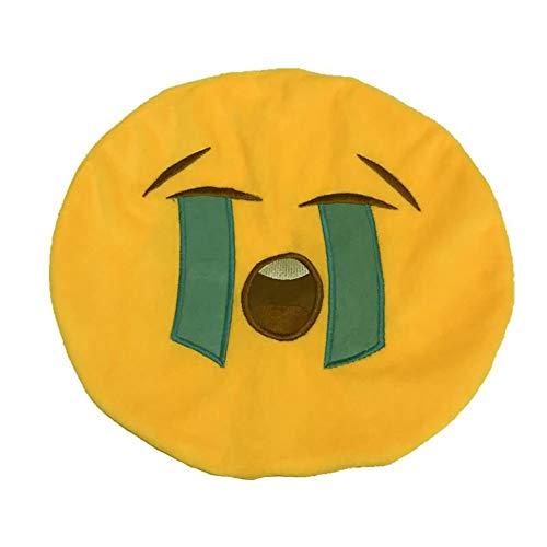 Yaohxu Kissenbezüge 40X51 Grau,32 cm Weich Emoji Lächeln Emoticon Ausgestopft Plüsch Spielzeug Puppe Kopfkissenbezug,Bettwäsche-Sets,K
