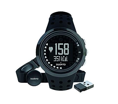 Suunto Herren M5 Fitness-Uhr, Herzfrequenzmesser + Brustgurt, Erweiterte Herzfrequenzfunktionen, Wasserdicht bis 30 m, schwarz, (Fitness Trainer Heart Rate Monitor)