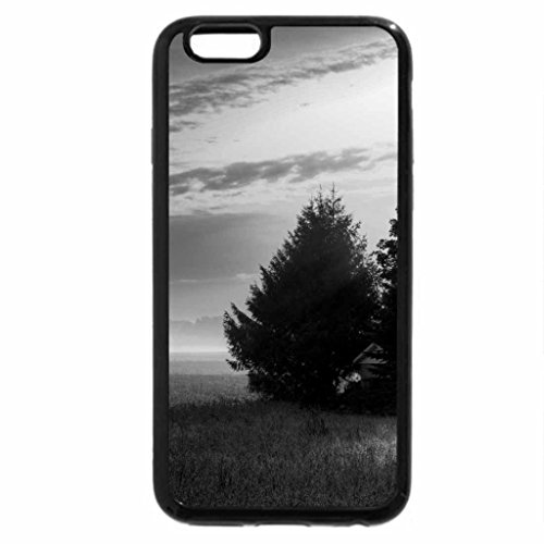Preisvergleich Produktbild iPhone 6S Plus Case, iPhone 6 Plus Case (Black & White) - morning sun rays on little house on the prarie