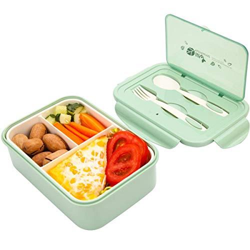 Sunshine smile Kinder Lunchbox unterteilung,brotbox Kinder bpa frei,Picknick Ausflug Lunchbox Kinder,Kinder Lunchbox mit fächern,Kinder Bento Box (Grün)