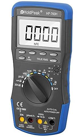 Digital Multimeter, HOLDPEAK6000 LCD Auto Ranging Multi Meter with Capacitance