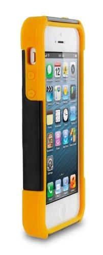 rooCASE Étui origami T3Hybrid Armor Coque avec support pour Apple iPhone 5/5S/5C Noir/jaune