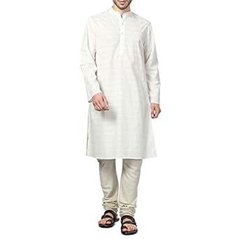 Indus Route by Pantaloons Men's Cotton Kurtas 205000004674330_White_XX-Large