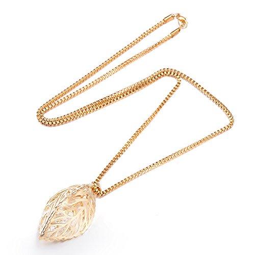styleziel-damen-schmuckset-halskette-medallion-venezianer-kette-mit-blatter-anhanger-mit-kristallen-