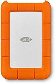 LaCie STFR1000800 1 TB Rugged Mini USB 3.1 (USB-C + USB 3.0) Portable 2.5 Inch Shock External Hard Drive for P