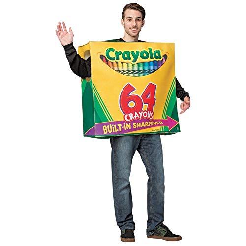 Kostüm Box Crayon - Crayola 64-Piece Crayon Box Adult Fancy dress costume Standard