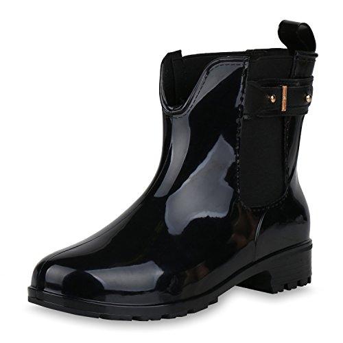 ummistiefel Schnallen Profilsohle Schuhe Schwarz Schnalle 36 (Schwarze Kurze Stiefel)