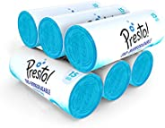 Amazon Brand - Presto! Oxo-Biodegradable Garbage Bags, Large - 15 bags/roll (Pack of 6, Blue, For Dry Waste)