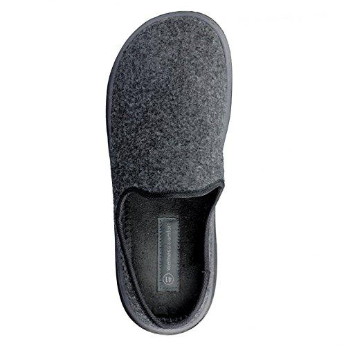 Hsm Wellness Comfort Pour Hommes Confort Super Doux + Pantoufles Grey Grau