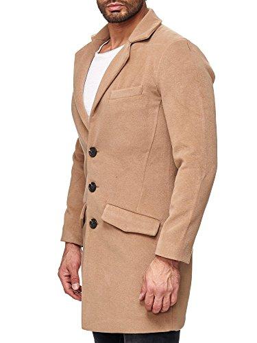 Red Bridge Herren Trenchcoat Mantel Parka Detective Winter Jacke Camel Beige M