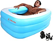 Cho-Cho Inflatable Bath Tubs ® for Kids and Adults BPA-Free Swimming Tub with Pump 4.2 Ft