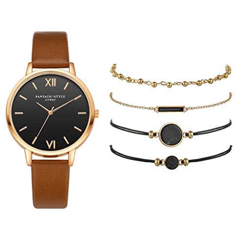 GKOKOD Damen Quarz Leder Band Gurt Beobachten Analog Handgelenk Armband Armband Beobachten einstellen ninjago Uhr Skelett Uhren armbanduhren Damen Weiss Archer Watch Straps