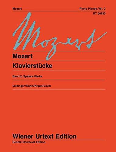 Klavierstücke: Spätere Werke. Band 2. Klavier. (Wiener Urtext Edition)