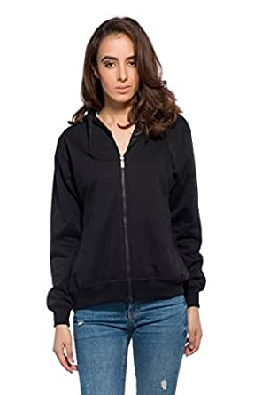 Alan Jones Clothing Women's Cotton Full Sleeve Sweatshirt (Black_Small)