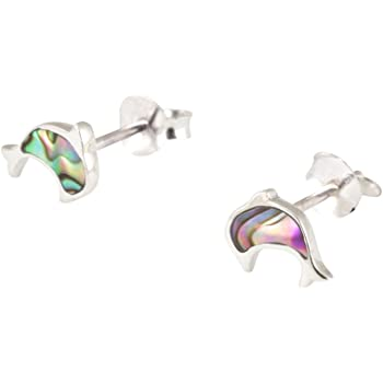 09a9c4b8 Tuscany Silver Sterling Silver Dolphin Stud Earrings: Amazon.co.uk ...