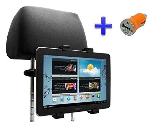 "Soporte Reposacabezas para Tablet Unusual 10X 10.1"" + Cargador Mechero USB"