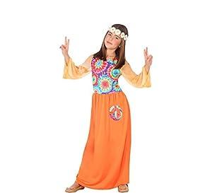 Atosa-56851 Disfraz Hippie, Color Naranja, 7 a 9 años (56851)