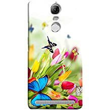 Printfidaa Lenovo K5 Note, Lenovo Vibe K5 Note Pro Back Cover Blue Buterfly and Flowers Printed Designer Back Case