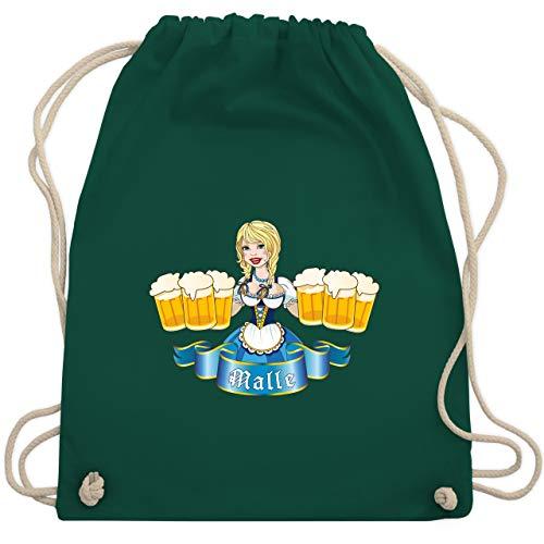 Urlaub - Malle Bier Mädl - Unisize - Dunkelgrün - WM110 - Turnbeutel & Gym ()