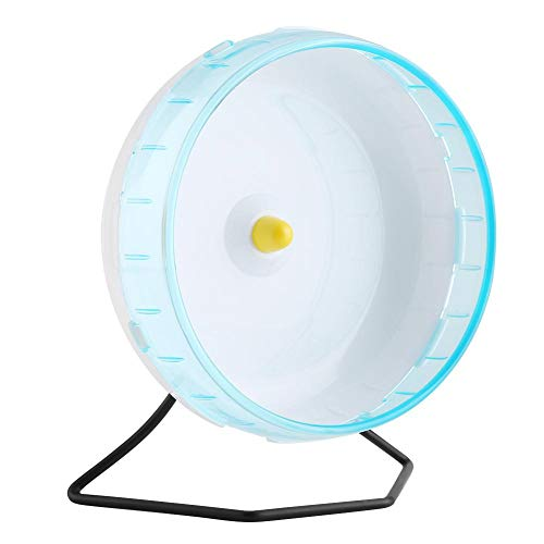 HEEPDD Haustier Hamster Laufrad, blaues lichtdurchlässiges Plastik stummes Laufrad Rad aerodynamisches Entwurfs kleines Haustier Übungsrad waschbares laufendes Spielzeug für Gerbils Chinchillas