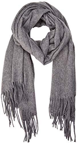 ONLY NOS Damen onlNALA Weaved Long Wool Scarf Acc Schal, Grau (Medium Grey Melange), One Size