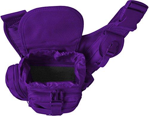 Schulter-Umhängetasche mit Karabiner Violett