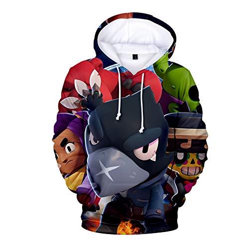 puerhki Hoodie Kindersport Und Freizeit 3D-Druck Lose Kapuzenpullover Ein Star Sweatshirt