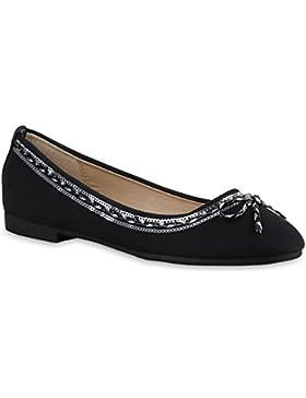 Stiefelparadies Klassische Damen Ballerinas Slippers Flats Übergrößen Flache Schuhe Metallic Spitze Glitzer Abendschuhe...