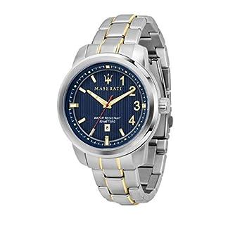 Reloj para Hombre, Colección Royale, Movimiento de Cuarzo, Solo Tiempo, con Fecha, en Acero y PVD Oro Amarillo – R8853137001