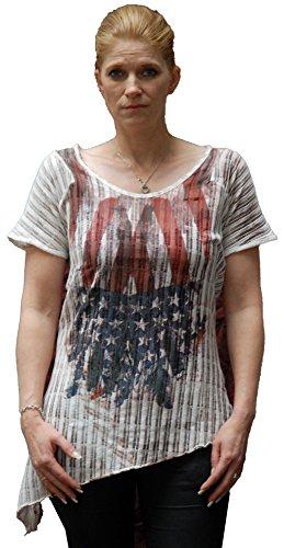 Key Largo, Flag, Damen-Shirt Rosewood