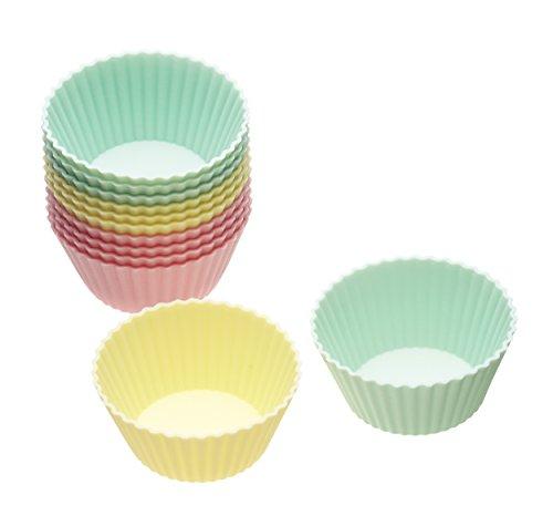 Kitchencraft Flexible Silikon-Muffinförmchen, 12 Stück (Cookie Display-boxen)
