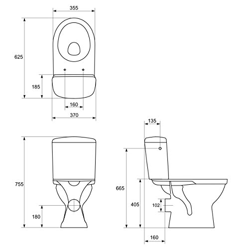 DOMINO KERAMIK STAND-WC-TOILETTE - 3