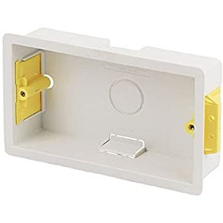 Pack of 5 x Appleby SB629 2 Gang 35mm Dry Lining Wall Boxes