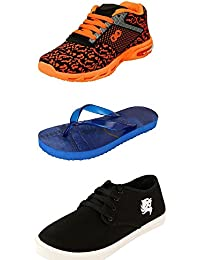 Jabra Perfect Combo Pack Of 2 Shoes- Sneakers And Loafers & Slippers For Men In Various Sizes - B06XVYJ5SD