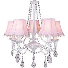 TangMengYun Moderne Einfache Kristall Kronleuchter, Kreative Tuch  Lampenschirm Dekorative Anhänger Deckenleuchte, Schlafzimmer Wohnzimmer