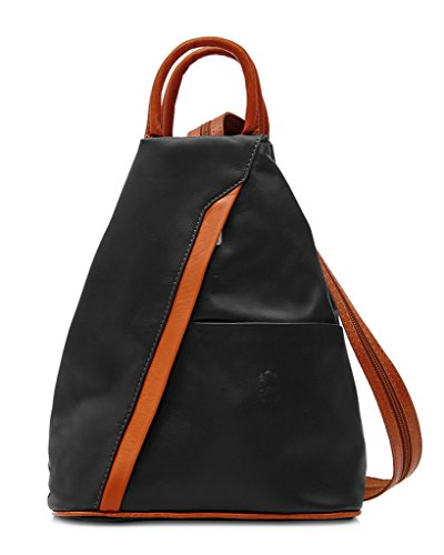 Benagio, Borsa a zainetto donna Tan and Black
