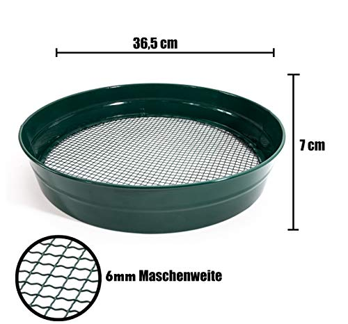 Gartensieb Erdsieb/Bodensieb zum aussieben von Erde Kompost und Aussehen von Saatgut