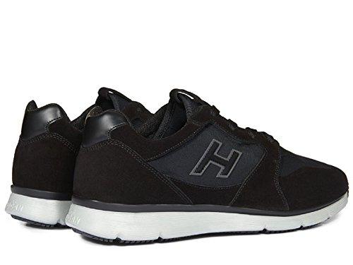 Hogan Basket en Cuir Velours Présentant en Tissu Effet Scuba - Code Modèle: HXM2540U141E55B999 Noir