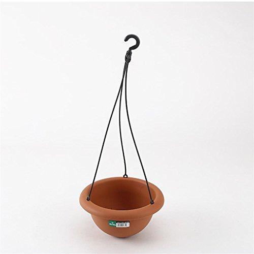 DELLT- Terrasse Hanging Orchid Pots Imitation Pottery Hanging vasons Résine environnement Pots suspendus Hanging