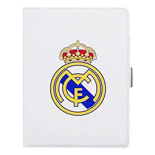 """Real Madrid RMTAB001 - Funda con Escudo para Tablet 10"""" Slim, Blanco"""