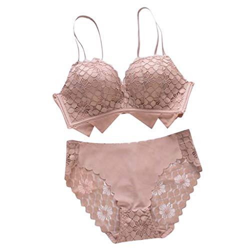 A/B Pass Cup Conjunto De Ropa Interior Encaje Ondulado Moda Reunir Juntos Sujetador Sin Anillo Traje Wave Lace Sexy Lady Underwear
