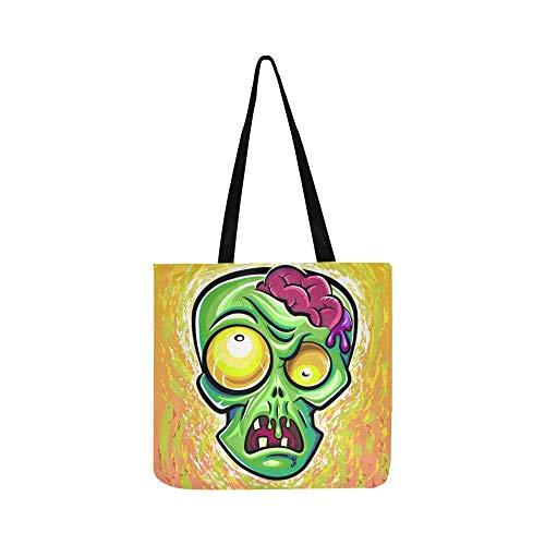 Zombie Poster Leinwand Tote Handtasche Schultertasche Crossbody Taschen Geldbörsen für Männer und Frauen ()