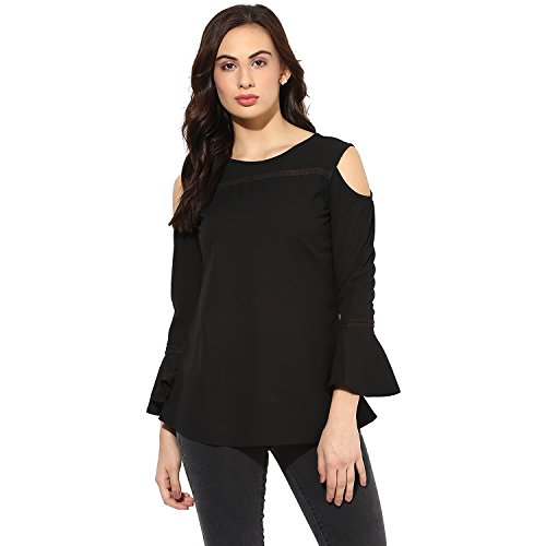 Eternal Solid Moss Crepe Western Top for Women Party Wear   Tops for Girls (WSF025-BL_XL, White)