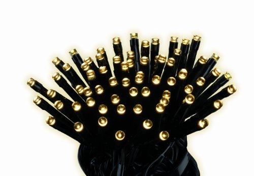Kaemingk LED Twinklelights, Außen, 18 m, 240 Lichter, schwarzes Kabel, warmweiße Dioden 494166