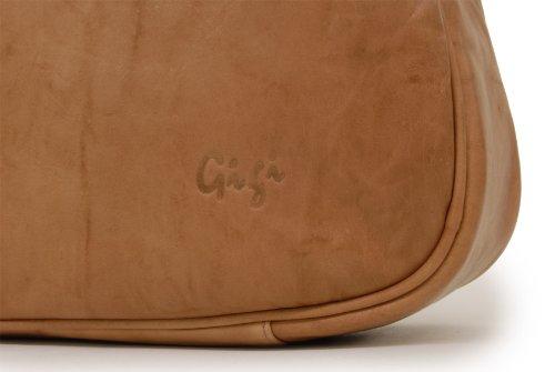 """Schultertasche Leder """"Othello"""" von Gigi - GRÖßE: B: 29-32 cm, H: 23 cm, T: 9,5 cm Honig"""
