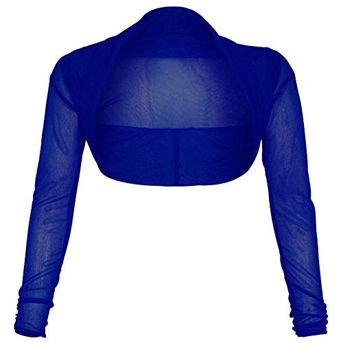 Vanilla Inc Top à Manches Longues - Femme Bleu Marine